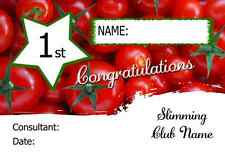 Tomatoes Personalised Slimming Club Diet Weight Loss Certificate