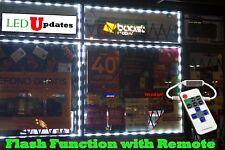 LEDUPDATES 20FT Flash STORE FRONT LED LIGHT KIT WHITE 5050 remote & UL POWER