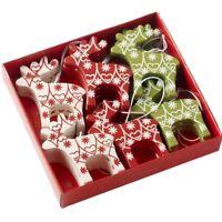 Heaven Sends Box of 24 Nordic Fairisle Reindeer Christmas Tree Decorations Gift