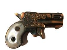 VTG  Modern Angel Mascot COPPER Tone Pearl Handle Pistol Lighter Made Japan