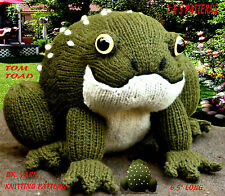 "6.5"" LONG TOM THE TOAD TOY/ DOLL. TO KNIT,  DK  LAMINATED KNITTING PATTERN 2346"