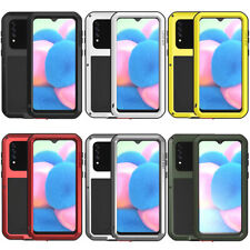 For Samsung Galaxy A30s 3D Shockproof Waterproof Gorilla Glass Metal Rugged Case