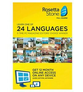 Rosetta Stone - Full Course - 24 Languages - Spanish Italian French etc. - 12 Mo