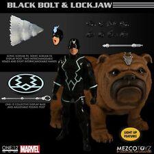 Mezco Black Bolt & Lockjaw Set ONE12 COLLECTIVE 6 inch action figures PRESALE