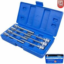 Ball End Hex Allen Key Long Reach Socket Set 7 Pc 3/8 Inch Drive Blue Spot