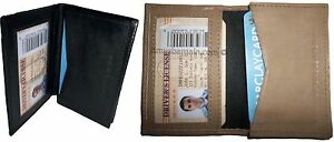 Leather Business cards Credit Cards ID card case fifty cards holder New Lot of 2