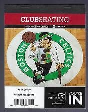 2012-13 NBA BOSTON CELTICS BASKETBALL HALF SEASON PLAN FULL TICKETS - 21 TIX X 2