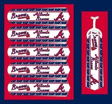 "MLB ATLANTA BRAVES TEAM LOGOS CEILING FAN REPLACEMENTS BLADE 52""-5 BLADES"