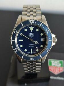 TAG Heuer 1000 series 980.613 N blue vintage original condition