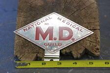 1950's National Medical Guild M.D. membership license topper - NOS