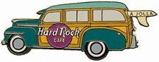 Hard Rock Cafe LA JOLLA 1999 Green WOODY PIN Station Wagon CAR Side - HRC #4354