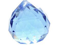20mm Light Blue Ball Chandelier Crystals Prism Suncatcher Faceted Ball