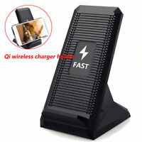QI Wireless 10W Fast Charging Cooling Fan Phone Stand Dock Pad LED Light