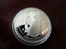 España 2006,10 euros de plata conmemorativa emperador Karl V. placa pulida