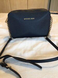 Michael Kors Navy Crossbody Bag. Part Chain Adjustable Strap