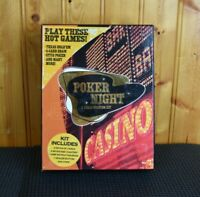 Poker Night A Texas Hold'em Kit- The All In One Card Set Cards Chips Coasters