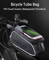 Bike Front Frame Bags Bicycle Phone Waterproof Top Tube Mount Handlebar Holder