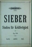 Sieber Studien für Kehlfertigkeit Op.136 Edition André No.910c B17887