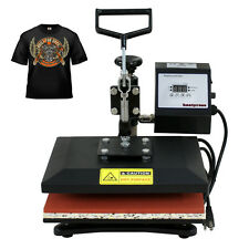"12"" X 10"" FLAT HEAT PRESS MACHINE T-SHIRT PHOTO TRANSFER SWING AWAY SUBLIMATION"