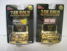 1998 New NOS Sealed Lot of 2 Racing Champions 24K Gold 1 of 9998 Hot/Stock Rods