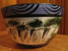 Vintage Amadaka Ceramics Victoria Falls Africa Hand Painted Bowl Trinket Dish
