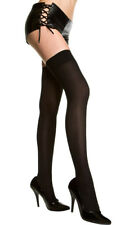 One Size Fits Most Womens Plus Size Opaque Thigh Highs, Plus Size Thigh High