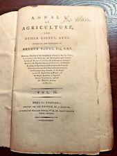 ARTHUR YOUNG.  ANNALS OF AGRICULTURE & .. useful Arts  IX  1st  1788  662pp HEMP