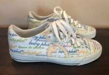 Baby PHAT Sneakers Shoes Womens Size 6 Logo Canvas Lace up Tennis Skater