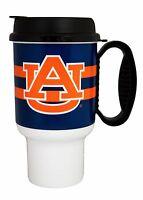 NCAA Auburn Tigers Striped Insulated Travel Mug 20oz Tumbler Drink Cup