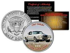 1967 SHELBY GT500E SUPER SNAKE Auction Muscle Car Colorized JFK Half Dollar Coin