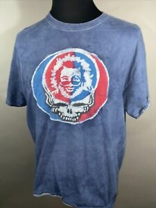 Grateful Dead Jerry Garcia Reversible Two Sided Graphic Mens  Concert T-Shirt XL