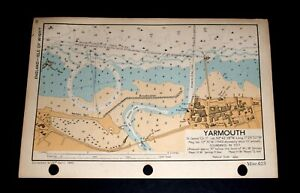 YARMOUTH, Isle of Wight - Rare WW2 vintage Map 1943