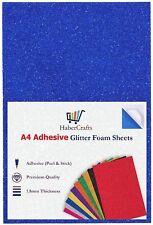 A4 Blue Glitter Foam Sheets EVA Foam Adhesive Sticky Back Foam Sheet 1.8mm