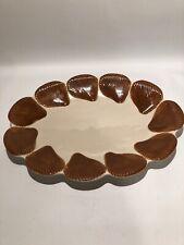 Fitz & Floyd Classics Large Oval Serving Platter Sea Shells Brown 1975 Vintage