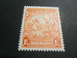 Barbados 1941  KGVl  MM  1 1/2d  P14  Stamp as per pictures