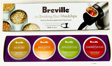Breville The Smoking Gun WoodChips Hickory Applewood Mesquite Cherrywood 4 Pack