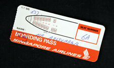 Singapore Airlines boarding pass