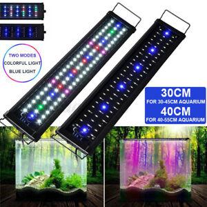 LED Aquarium Beleuchtung 30-120cm Aufsetzleuchte Lampe Aufsetzleuchte RGB+Blau