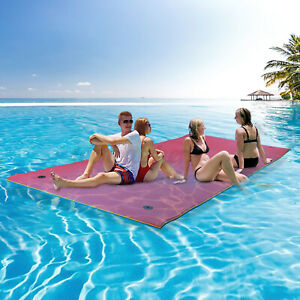 13X5FT 3-Layer Floating Water Pad Water Sports Float Mats Family Recreation Boat