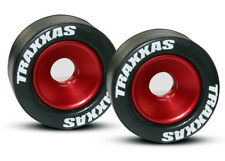 Traxxas 1/10 T-Maxx 3.3 * 2 WHEELIE BAR TIRES & WHEELS - RED * 5186