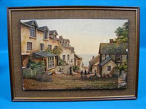 Clovelly North Devon Mounted / Framed Print Kevin Platt Global Shipping