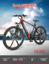 Samebike 26 Inch Electric Mountain Bicycle 350W Smart Moped E-Bike 7 Speed Black