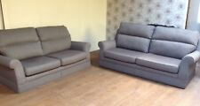 MARKS AND SPENCER RICHMOND 3 AND 2 SEATER SOFA'S IN HARREZ TEXT GRAPHITE FABRIC