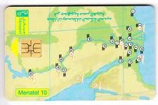AFRIQUE TELECARTE / PHONECARD .. EGYPTE 10LE SO3 CARTE MAP NIL 10N°N PUCE