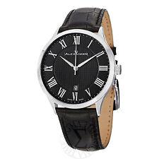 Alexander Men's Statesman Triumph Black Dial Black Strap Swiss Watch A103-02
