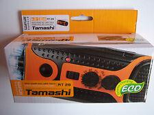 NEW RADIO AM/FM TAMASHI  DYNAMO ECO BUILT-IN LED LIGHT OUTDOOR,CAMPING,GARAGE.