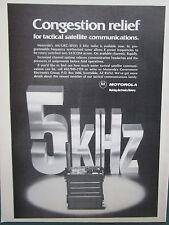 8/1982 PUB MOTOROLA ELECTRONICS AN/URC-101 TACTICAL RADIO SATCOM ORIGINAL AD