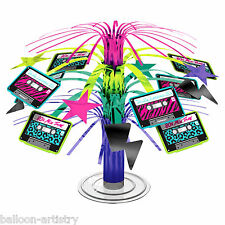 19cm Totally 80's Disco Punk Party Mini Cascade Centrepiece Table Decoration