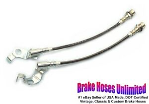 STAINLESS FRONT BRAKE HOSES Ford Galaxie 1965 1966, Disc