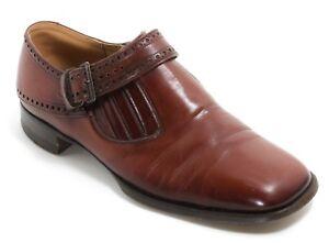 Herrenschuhe Budapester Halbschuhe Western Bikerschuhe Riemen Schuhe Vintage 39